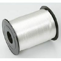 CRIMPED CURLING RIBBON - WHITE