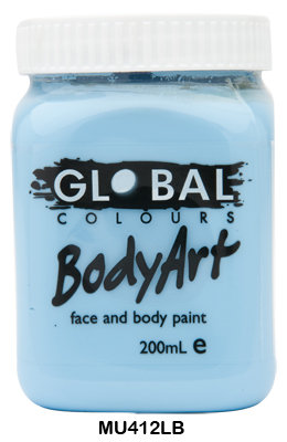 GLOBAL COLOURS LIGHT BLUE FACE PAINT 200ML