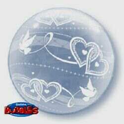 51CM JOINED HEARTS DECO BUBBLE BALLOON