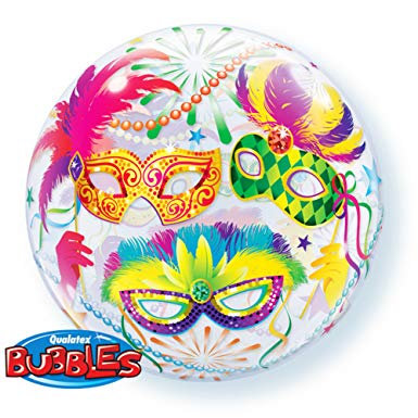 56CM MASQUERADE BUBBLE BALLOON
