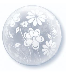 51CM FLORAL PATTERN ALL AROUND DECO BUBBLE
