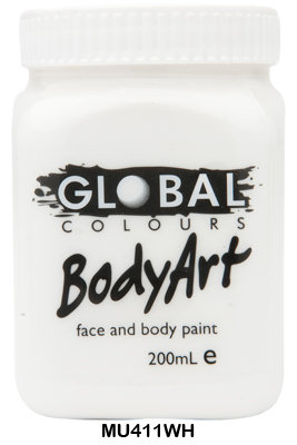 GLOBAL COLOURS WHITE FACE PAINT 200ML