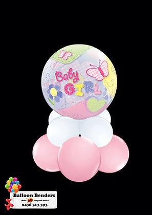 A56CM BABY GIRL BUBBLE BALLOON BUTTERFLIES /1