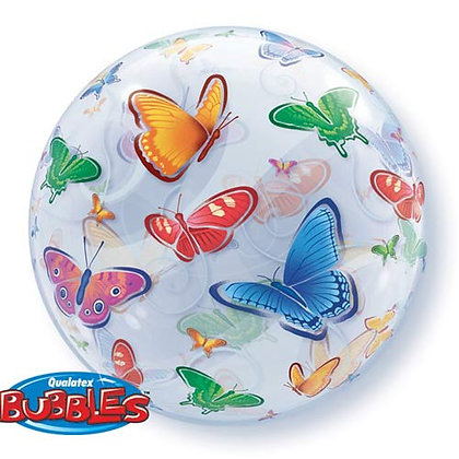 56CM BUTTERFLIES BUBBLE BALLOON