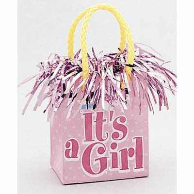 GIFT BAG BALLOON WEIGHT - ITS A GIRL