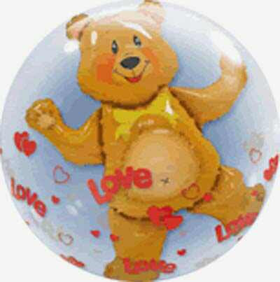 61CM DOUBLE BUBBLE BEAR AND HEART