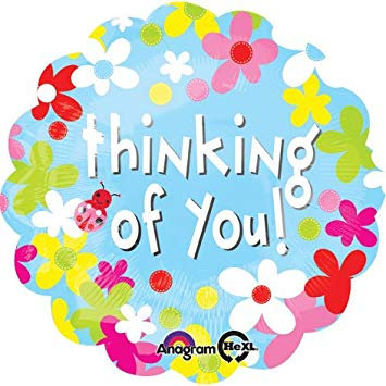30CM THINKING OF YOU FLOWER FOIL BALLOON