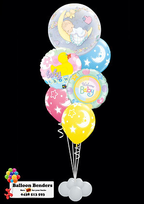 A56CM BABY SHOWER BUBBLE BALLOON MOON & STARS Y
