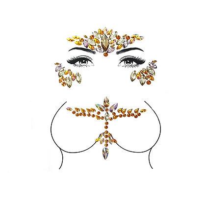 Woodstock Festival Gems - Honey Amber Face & Chest
