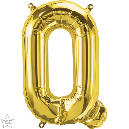 """16"""" (41cm) North Star Air-Filled Gold Letter -Q"""