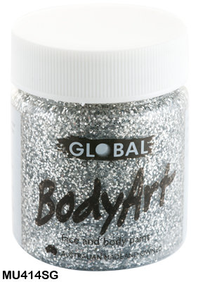 GLOBAL COLOURS SILVER GLITTER FACE PAINT