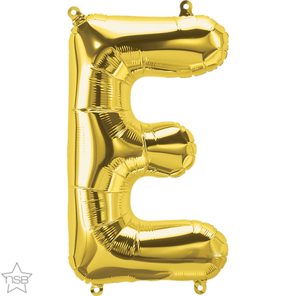 """16"""" (41cm) North Star Air-Filled Gold Letter -E"""