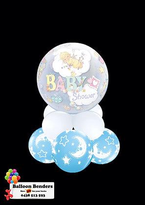 A56CM BABY SHOWER BUBBLE BALLOON MOON & STARS B