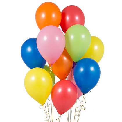 Rainbow Latex Party Balloons - 14 Pack