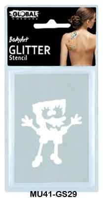 GLITTER STENCIL - SPONGE BOB