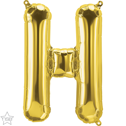 """16"""" (41cm) North Star Air-Filled Gold Letter - H"""