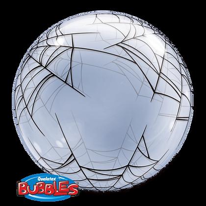 61CM SPIDERS WEB DECO BUBBLE BALLOON