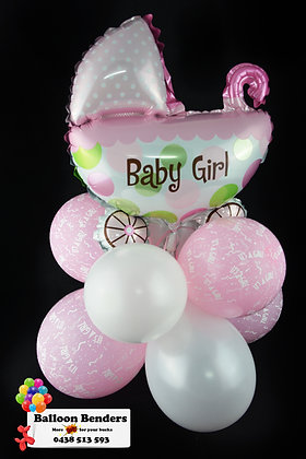 BABY STROLLER PUFF TABLE CENTRE