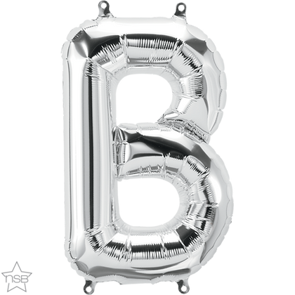 "16"" (41cm) North Star Air-Filled Silver Letter - B"