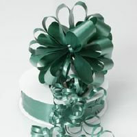 PULL STRING BOW 12PK - EMERALD GREEN
