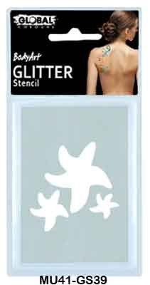 GLITTER STENCIL - STARFISH