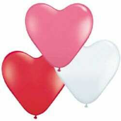 LATEX SWEETHEART MIX 15CM HEARTS /10
