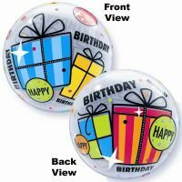 56CM HAPPY BIRTHDAY FUN GIFT BUBBLE BALLOON