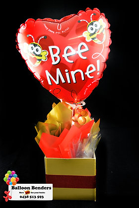 A BEE MINE LOVE BOX BOUQUET
