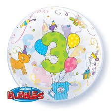 56CM 3 BUBBLE BALLOON