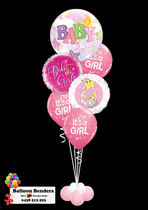 A56CM BABY GIRL BUBBLE BALLOON MOON & STARS /1