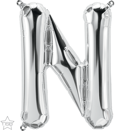 "16"" (41cm) North Star Air-Filled Silver Letter - N"