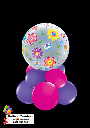 A56CM BUBBLE BALLOON SPRING FLORAL /1