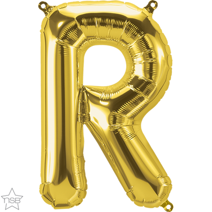 """16"""" (41cm) North Star Air-Filled Gold Letter - R"""