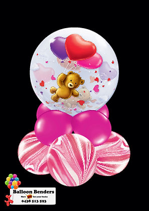 A56CM BUBBLE BALLOON FLOATING TEDDY LOVE/1