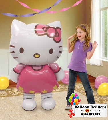 HELIUM FILLED AIR-WALKER HELLO KITTY