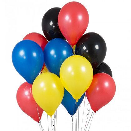 Superhero Latex Party Balloons - 14 Pack