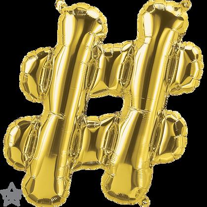 "16"" (41cm) North Star Air-Filled Gold Letter Symbol - #"