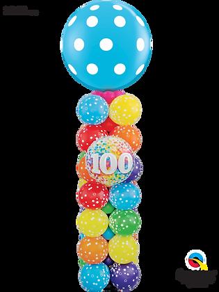 100 Confetti Polka Dot Column