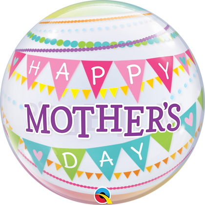 56CM MOTHER'S DAY PENNANTS BUBBLE BALLOON