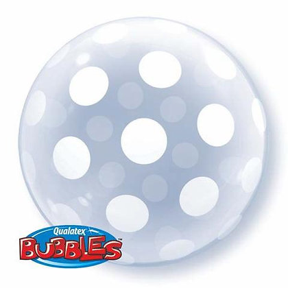 51CM POLKA DOTS DECO BUBBLE BALLOON