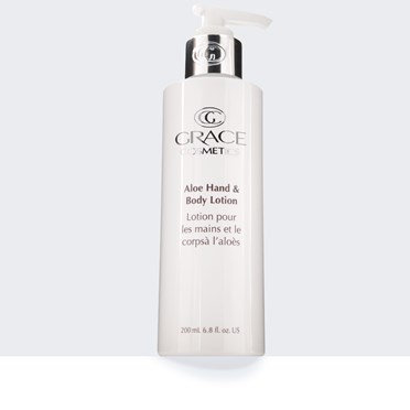ALOE HAND AND BODY LOTION BOTTLE