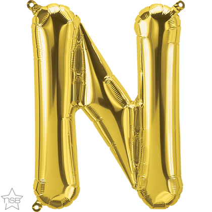 "16"" (41cm) North Star Air-Filled Gold Letter - K"