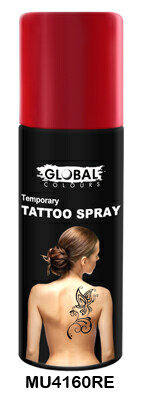 GLOBAL COLOURS TATTOO SPRAY RED