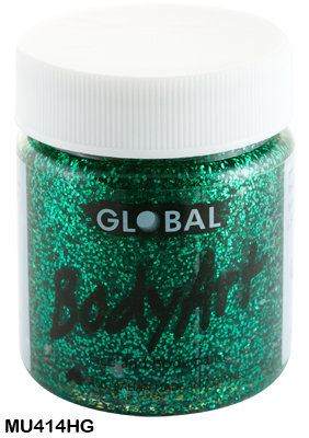 GLOBAL COLOURS EMERALD GREEN GLITTER FACE PAINT