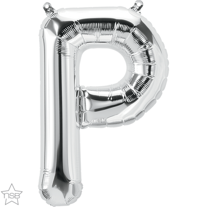 "16"" (41cm) North Star Air-Filled Silver Letter - P"