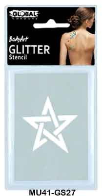 GLITTER STENCIL- REBEL STAR