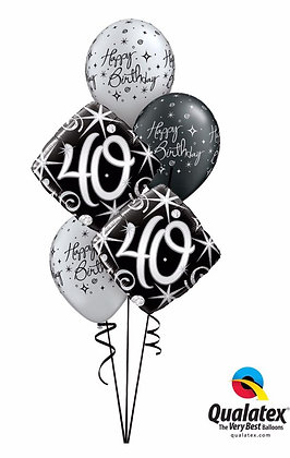 MILESTONE BLACK BALLOON BOUQUET
