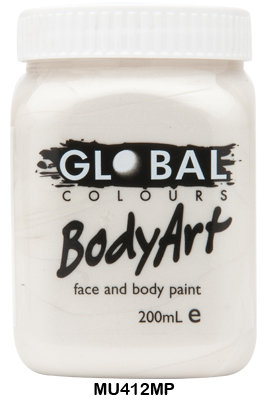 GLOBAL COLOURS METALLIC PEARL FACE PAINT 200ML