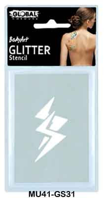 GLITTER STENCIL - LIGHTNING BOLT