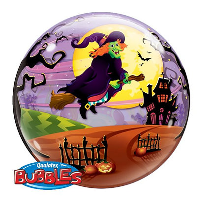 56CM FLYING WITCHES SPOOKEY BREW HALLOWEEN BUBBLE BALLOON